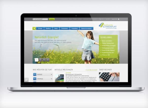 Entwurf Homepage Stadtwerke Schweinfurt